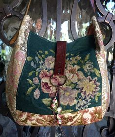 Your place to buy and sell all things handmade Fabric Handbags, Fabric Bags, Diy Bags Purses, Purses And Handbags, Vintage Velvet, French Vintage, Carpet Bag, Tapestry Bag, Handmade Handbags