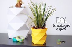 CUTE!! it's a paper pineapple planter   #DIY #origami