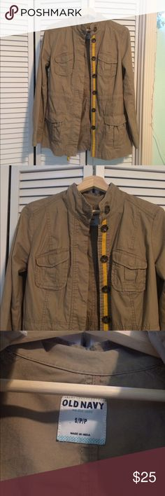 Old Navy Jacket Old Navy tan jacket size small. Like new. Feel free to make me an offer :) Old Navy Jackets & Coats