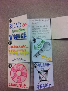 My life as a mother and teacher: Science Test Taking Skills Foldable