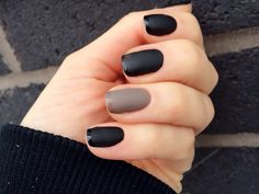 MATTE FRENCH MANI..........Grey Accent #enameldiction #grey