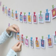 make your own advent calendar kit from Cotton Twist