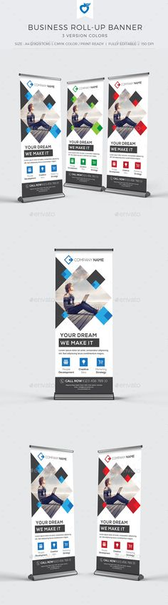 Business Roll-up Banner Template #design Download: http://graphicriver.net/item/business-rollup-banner-/10943745?ref=ksioks