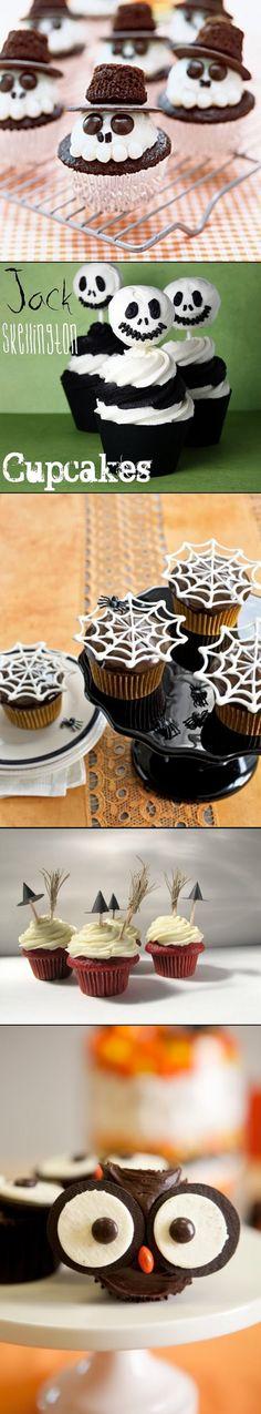 Halloween Cupcakes Part 2 - Read More - http://lilluna.com/halloween-cupcakes-part-2/ - created via http://pinthemall.net