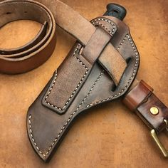 Cross draw Leather sheath for Morakniv Garberg & Kansbol KSM .- Pull leather sheath for Morakniv Garberg & Kansbol