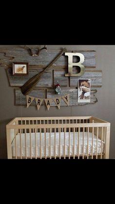 Cute idea for baby boys room.