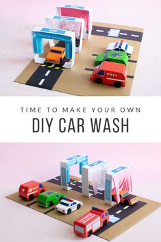 Try this super fun DIY craft and make your own car wash for your Aussie Mini Vehicles. Its easy to make and just takes a few materials. We have also supplied a FREE printable to download to create extra details. Step by step instructions are featured on our blog.