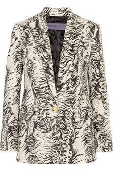 Emanuel Ungaro Animal-print wool-blend blazer | NET-A-PORTER
