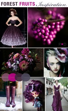 Wedding Inspiration: Forest Fruits {Perfect shades of Berry and Plum for Autumn / Winter} Mood Board by Pocketful of Dreams    Autumn, autumnal, Berry, colour palette, deep pink, Forest Fruit, inspiration, mood board, plum, Pocketful of Dreams, Purple, Styling, theme, Wedding Trends, Winter