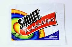 SHOUT PORTABLE WIPES- SINGLE PACKET