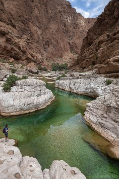 Wadi Shab, the 'Gorge Between Cliffs' (Oman).