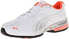 PUMA Women's Tazon 5 Cross-Training Shoe Padded collar and tongue offers a snug, comfy fit. Nike Womens Athletic Shoes, Best Nursing Shoes, Women's Slip On Shoes, Women's Shoes, Cross Training Shoes, Adidas, Shoes Online, Casual Shoes, Sneakers Nike
