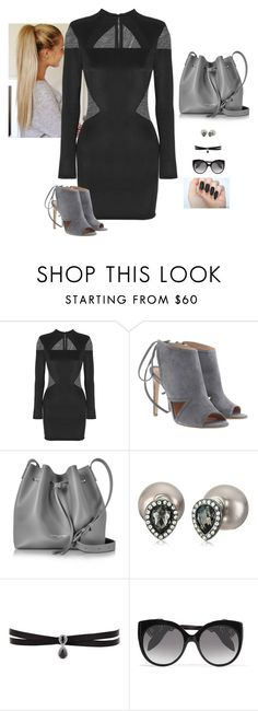 """""""Bad@**"""" by hanakdudley ❤ liked on Polyvore featuring Balmain, BOSS Hugo Boss, Lancaster, Kenneth Jay Lane, Fallon and Alexander McQueen"""