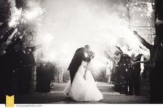 KC Wedding Photographer: Wedding Exit, Wedding Sparklers, Bride and Groom