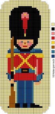 Figures - Stanley Soldier and Betty Bouffant Needlepoint Pattern