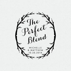 The Perfect Blend Stamp Thank You Stamp Wedding by FallForDesign