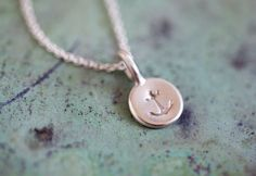 Tiny Anchor Necklace by annekiel on Etsy, $34.00