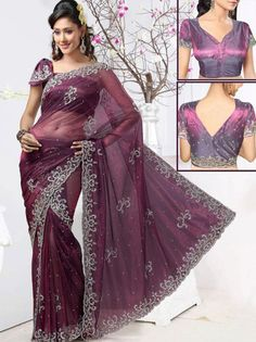 Wine Net #PreStitchedSaree @ $296.00
