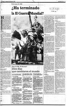 ¿Ha terminado la Segunda Guerra Mundial? Publicado en 1985