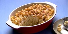 Three Cheese Pasta Bake from Anna Olson of Food Network Canada: The creamiest, cheesiest mac and cheese bake ever. and easy to whip up for weeknight dinners, too. Cheese Pasta Bake, Bake Mac And Cheese, Mac Cheese Recipes, Baked Pasta Recipes, Cooking Recipes, Healthy Recipes, Supper Recipes, Side Recipes, Supper Meals