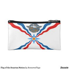 Flag of the Assyrian Nation Makeup Bags