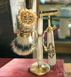 skull shaving brush hand made finest badger shave brush with