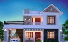 Two Bedroom Small House Design – Amazing Architecture Magazine 2 Storey House Design, Duplex House Design, Simple House Design, House Front Design, Modern House Design, Duplex House Plans, House Layout Plans, Modern House Plans, House Layouts