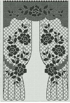 Annie's Crochet, Crochet Doily Diagram, Fillet Crochet, Crochet Purses, Irish Crochet, Crochet Doilies, Crochet Flowers, Crochet Curtain Pattern, Crochet Curtains