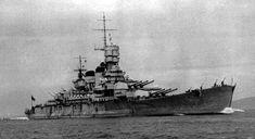The Italian battleship Roma was considered to be a beautiful ship in keeping with Italian naval design. Italian Navy photo