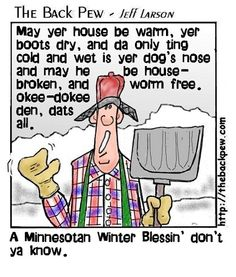 The Back Pew - New Testament Cartoon ( Minnesota Winter Blessing )