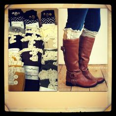 Grace and Lace Boot Socks now Available at Mococreations!  Just ordered 2 pair, can't wait to get!!