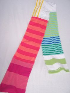 Tshirt scarf made from sleeves - cute!
