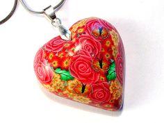 Red Rose Heart Pendant