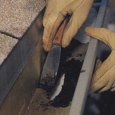 Gutters and downspouts form the first line of defense against a wet basement or crawl space. Learn how to fix 3 common gutter problems with This Old House. Home Renovation, Home Remodeling, Home Helpers, Wet Basement, Home Fix, Diy Home Repair, Hacks, Roof Repair, Home Repairs