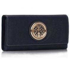 Peňaženka so zlatou brošňou Onna, modrá 15680