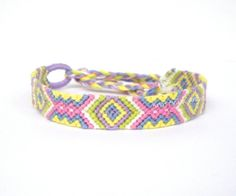 Pastel Diamonds Friendship Bracelet by KnottyAsCanBe on Etsy