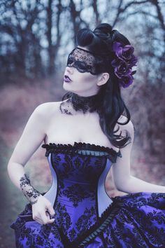 Alternative Steampunk Wedding Gown Purple by KMKDesignsllc on Etsy, $645.00