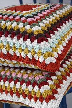 Two granny square pillow cases!!