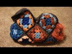 DIY #Crochet Granny Square Bag Handbag Purse #TUTORIAL Learn Crochet - YouTube