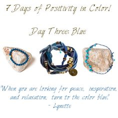 7 Days of Positivity in Color - Blue