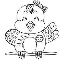 nightingale animal coloring pages. Canary coloring page  Color online this and send it to your friends Nightingale Nice bird sheet More original