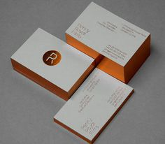 Penny Royal Films business card with copper foil detail designed by Alphabetical.
