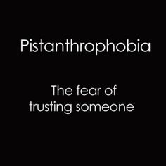 Yup I have this...and I know exactly why...you can't trust anyone anymore..no one knows how to keep their word! I've experienced this in the past 2 days...:(