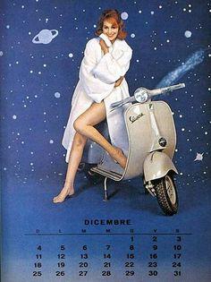 1960 Vespa calendar in italian (dec)