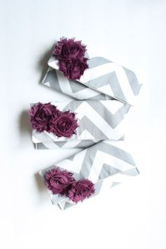 Plum and Gray Bridesmaid Clutches