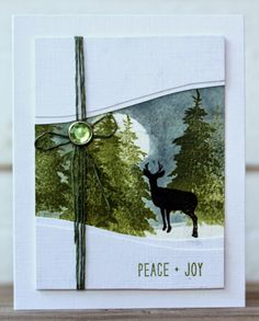 Rapport från ett skrivbord. Birgit's card with new Penny Black Winter Wonderland collection (Oct 2014). This card is made with stamps from the Winter Friends stamp set.