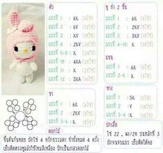 Blog Crochet Doll Pattern, Crochet Bunny, Cute Crochet, Crochet Dolls, Amigurumi Doll, Crochet Patterns Amigurumi, Handmade Soft Toys, Tsumtsum, Crochet Keychain