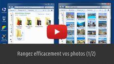 Apprenez à ranger correctement vos photos en créant des dossiers (étape 1) et en y déplaçant des images par copier-coller (étape 2). Je vous recommande, même si ce n'est pas obligatoire, de créer vos dossiers dans le répertoire Images de la Bibliothèque. En centralisant les photos à cet endroit, vous les retrouverez très facilement. Lien : http://www.pausetuto.com/bien-ranger-vos-photos-partie1