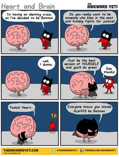 Our brains and our hearts have a very interesting relationship, and it is their crazy back-and-forth that Nick Seluk, the artist behind the popularAwkward Yeti webcomic (which also had these wonderful comics on depression), plays upon with his Heart And Brain comic series. Heart, who always wants to live life to the fullest, often conflicts …