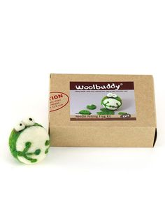 This Frog Needle Felting Kit is perfect! #zulilyfinds